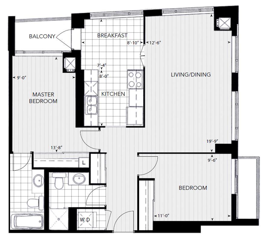 2 Bdrm Condos For Rent: 2 Bedroom, 2 Bathroom Condo For Rent In Element In